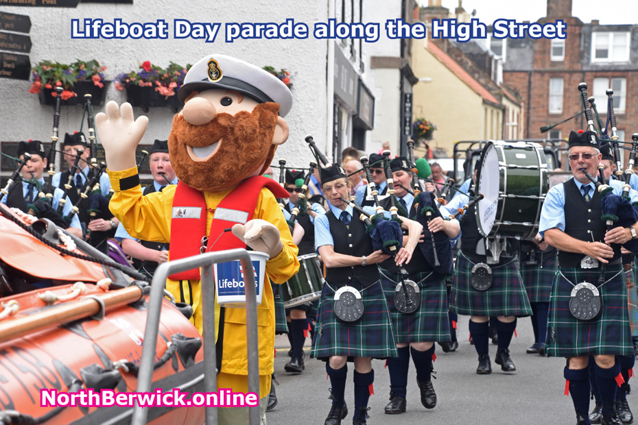 Lifeboat parade along North Berwick High Street
