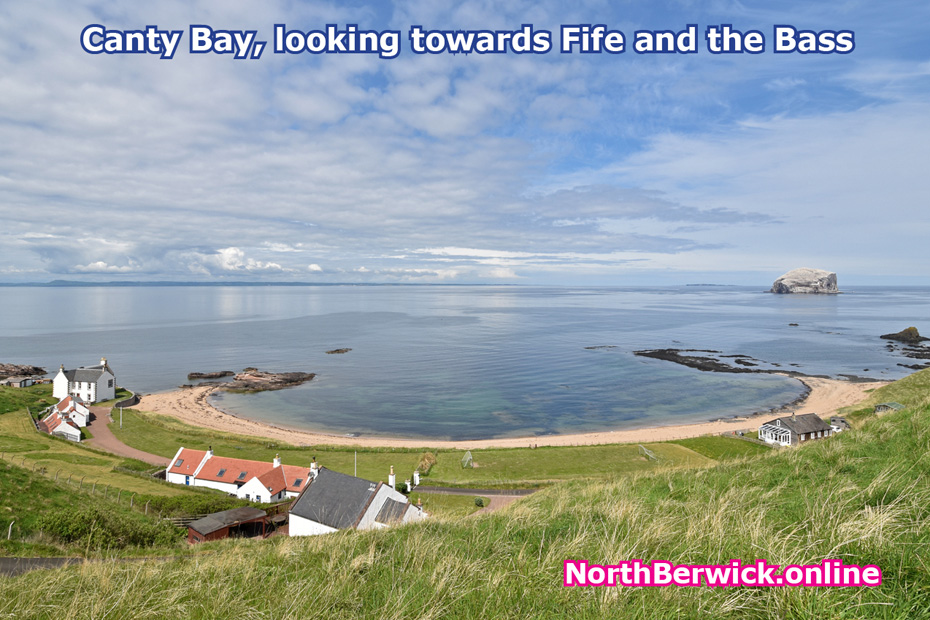 Canty Bay, east of North Berwick, looking towards the Bass and Fife