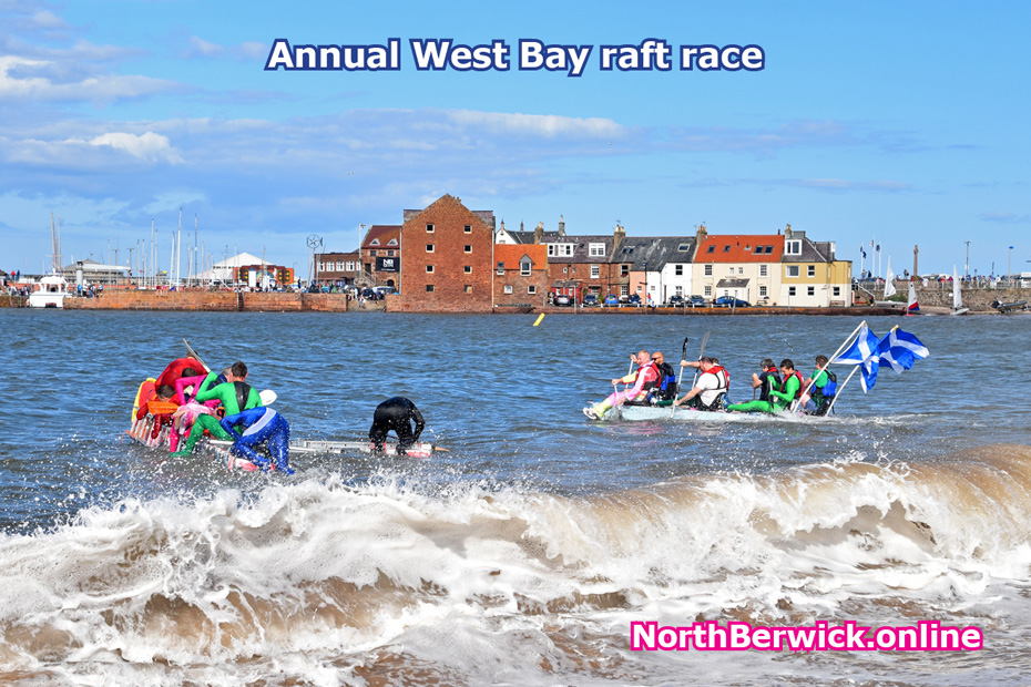 North Berwick raft race