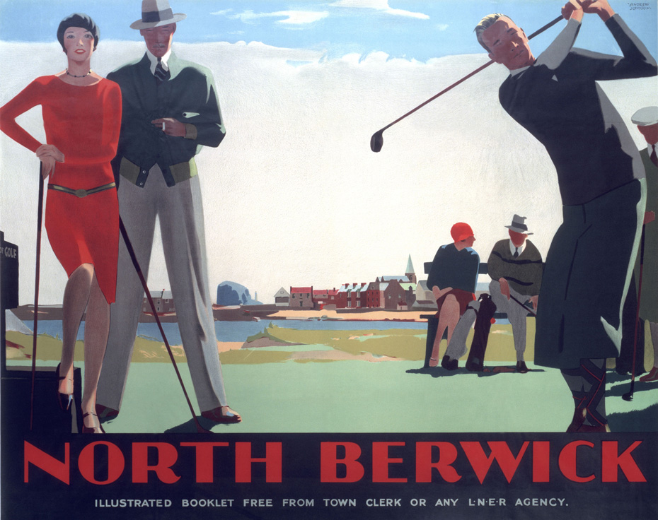 LNER poster from 1923, used to promote, until 1947, North Berwick by train